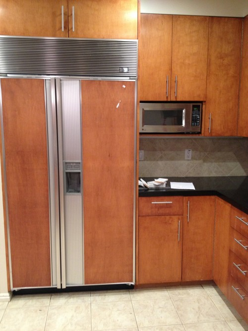 Subzero Fridge, kitchen, renovation