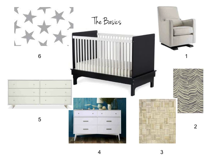 Crib, neutrals, west elm