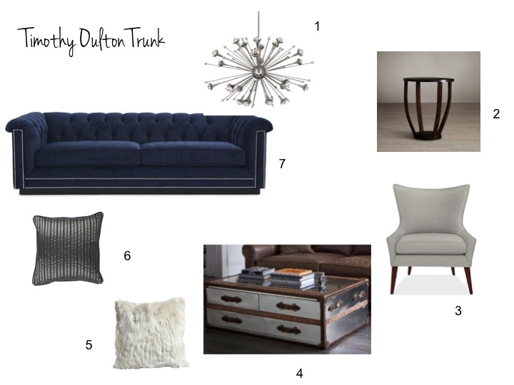 timothy oulten, living room, restoration hardware, room and board, mitchell gold and bob williams