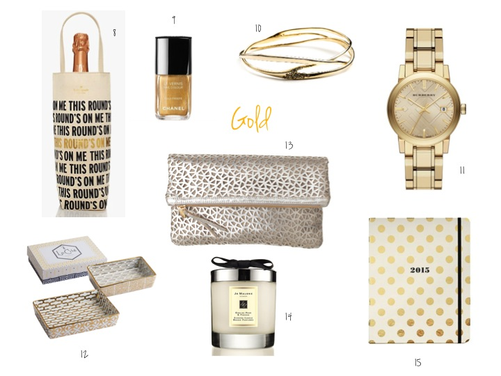 gift list, gold