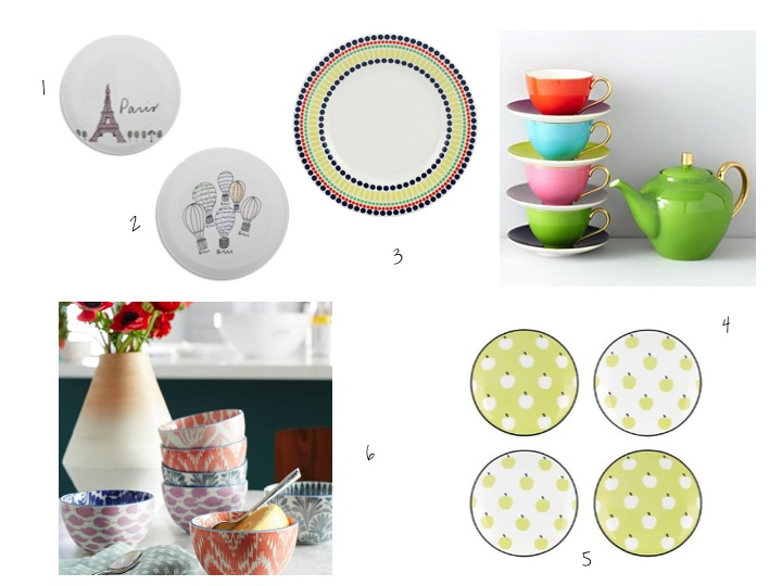 accent plates, ikat, kate spade, west elm, sur la table