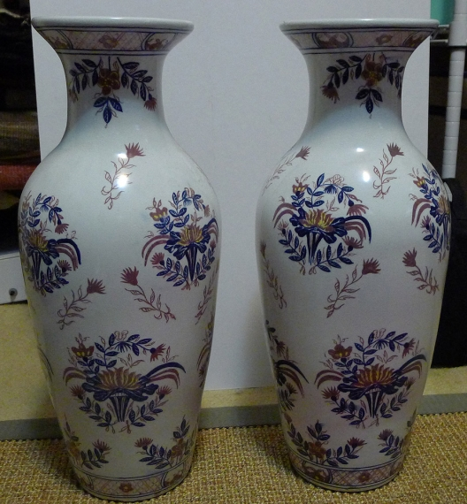 foyer, vases, asian art