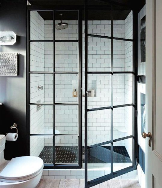 apartment therapy, shower door